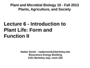 6 - Introduction to Plant Life Form and Function II