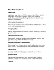 POLS 1130 Chapter 15