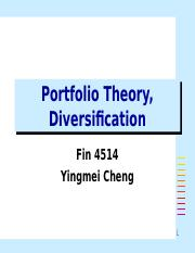 Portfolio Diversification.ppt