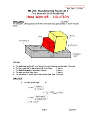 Lect#8-Solved Problems on Machining and Summary of Equatioins