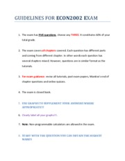 Guidelines for ECON2002 Exam