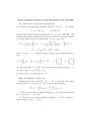Stat 700 Sample Questions 2008