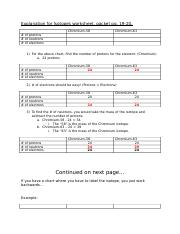 explanation for isotopes worksheet