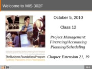 F10-Class-12-Project Management-Financing and Planning