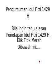 Idul Fitri 1429 H.pps