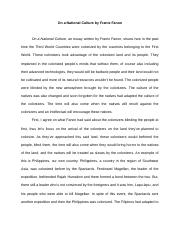 reaction paper on On a National Culture.docx