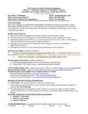 LED311 Fall 2011 REVISED Syllabus Nottingham POSSIBLE
