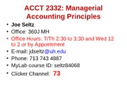 Introduction and Ch.1 Powerpoint- ACCT2332