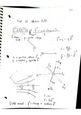 phys 208 electric field