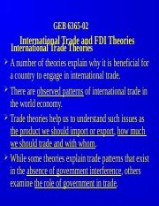 GEB 6365-02 International Trade and FDI Theories.PPT