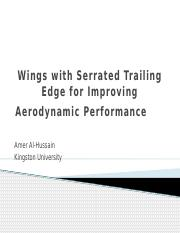 Wing with Serrated Trailing Edge for Improving Aerodynamic Presentation.pptx