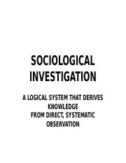 Sociological Investigation (Week 1).ppt