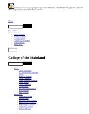Nursing Department _ College of the Mainland.html