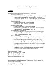 Governmental and Non Profit Chapter Notes