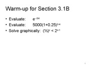 Section 3.1B