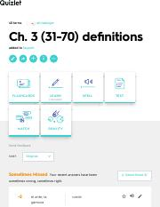 Ch. 3 (31-70) definitions Flashcards | Quizlet
