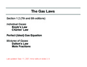 The gas laws-Ch1