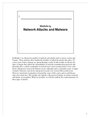 CSCI 650 - Module04-Network Attacks and Malware - Lecture Material