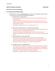 Work Sheet 11: Intermolecular Forces solutions