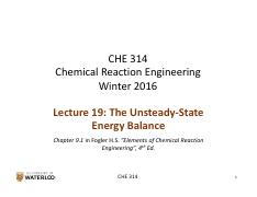 CHE 314_L19_Transient Energy Balance