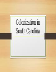 colnization in south Carolina