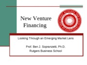New Venture  Valuation and Transaction structure