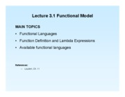 Lect 3.1 Functional Model