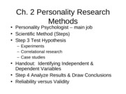 Ch.2PersonalityResearch Methods(students)