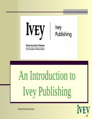 Ivey Publishing Overview.ppt