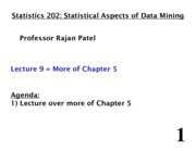 Stats 202 - Lecture 9