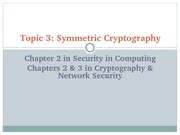 Topic3 Symmetric Cryptography
