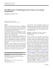 The Effectiveness of Self-Managed Work Teams in Government Organizations.pdf