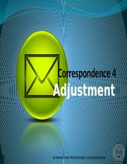 ENGL214 Correspondence 4 - Adjustment.pptx