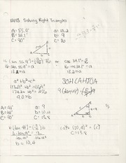 solving right triangles, pg. 302 #10-15
