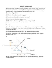Supply and Demand_ANSWER KEY