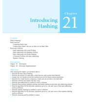 Chapter 21 & 22 Hashing