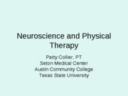 Neuroscience+and+Physical+Therapy
