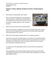 Chapter 3- Values, Attitude, Emotions & Culture. Seaside Organics Case .docx