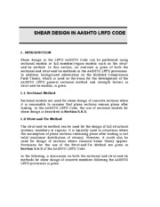 shear design AASHTO