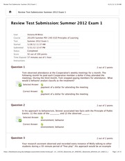 Review Test Submission: Summer 2012 Exam 1