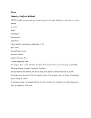 Industry Analysis Methods Notes