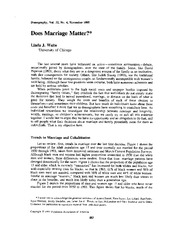 Waite 1995 Does Marriage Matter