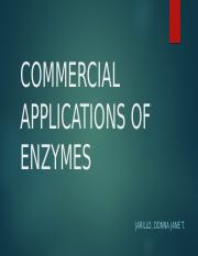 Commercial Application of Enzymes III.pptx