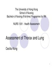 Assessment of thorax and lung_2017_Student