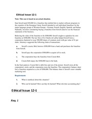 ACC 206 Week 1- Ethical Issue 12-1