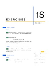 1S Exercises from Week 2