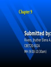 chapter 9 rivero.ppt