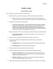 Study Guide Federal Budget Analysis .docx