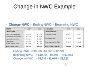 Change in NWC Example