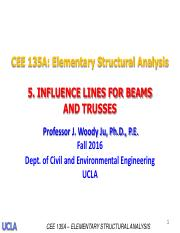 5.Influence Lines for Beams and Trusses-Prof. Ju-F2016-rev2